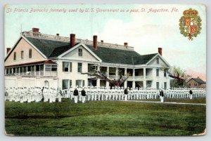 St Augustine Florida~St Francis Barracks~Former Gov't Post~Men in Formation~1910