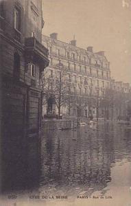 Rue De Lille, Crue De La Seine, Paris, France, 1900-1910s