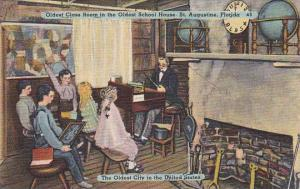 Florida Saint Augustine Oldest Class Room In the Oldest School House The Olde...