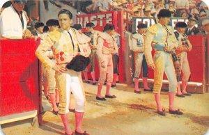 Toros En Mexico, Bull Fighting in Mexico Tarjeta Postal, Bullfighting Unused