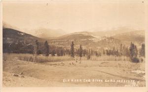 D55/ Sun River Montana Mt Real Photo RPPC Postcard c1910 Elk Herd Preserve