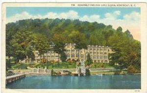 Assembly Inn From Lake Susan, Montreat, NC, 1938