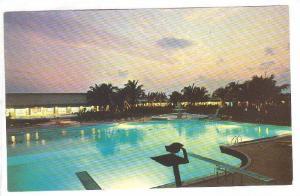 Beautiful night at the Grand Bahama Hotel and Country Club, Nassau, Bahamas, ...