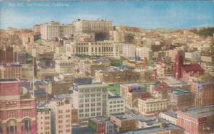 California San Francisco Panorama Of Nob Hill
