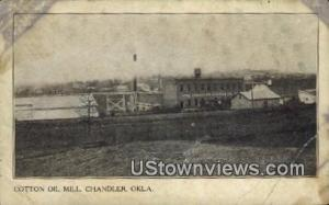 Cotton Oil Mill Chandler OK Writing On Back