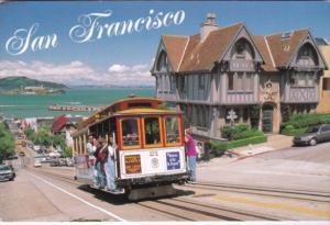 California San Francisco Cable Car #21 Climbing Hyde Street Hill