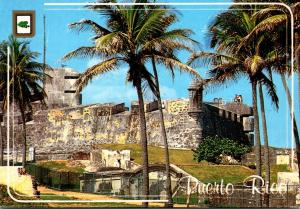 Puerto Rico San Juan Castillo San Cristobal As Seen From The Capitol