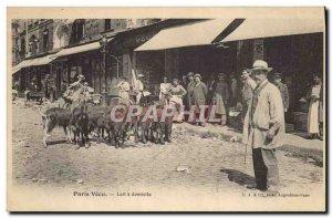 Old Postcard Paris Vecu Goat Milk at home TOP