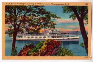 M.V. Mt Washington Arriving at Wolfeboro, Lake Winnipesaukee