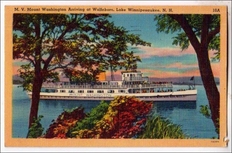 M.V. Mt Washington Arriving at Wolfeboro, Lake Winnipesaukee