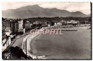 Modern Postcard Saint Jean de Luz General view of the Beach and the Rhune