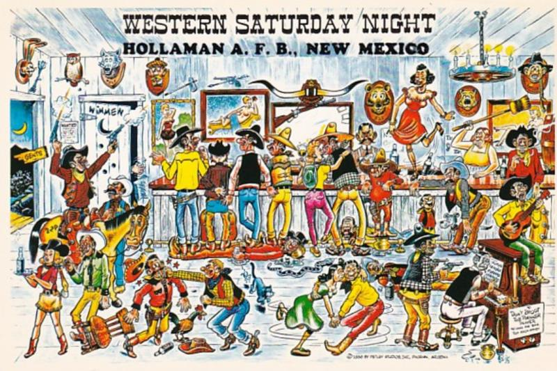 New Mexico Humour Hollaman Air Force Base Western Saturday Night