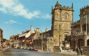 Vintage Dorset Postcard, High Street, Shaftesbury FH3