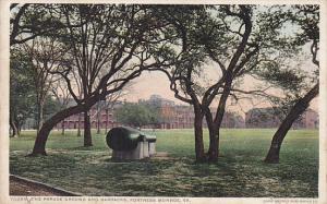 The Parade Ground and Barracks, Canon, Fortress Monroe, Virginia, 10-20s
