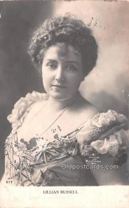 Lillian Russell Movie Star Actor Actress Film Star Postcard, Old Vintage Anti...