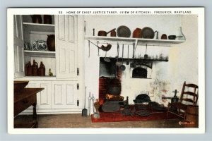 Frederick MD-Maryland, Home of Chief Justice Taney, Kitchen Vintage Postcard