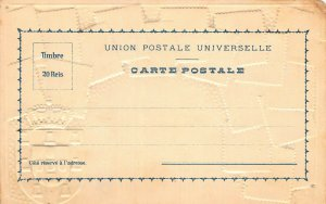 Portugal Stamps on Early Embossed Postcard, Unused, Published by Ottmar Zieher