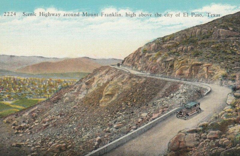 EL PASO, Texas, 1900-10s; Scenic Highway around Mt. Franklin