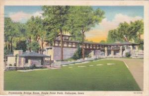 Iowa Dubuque Eagle Point Park Promenade Bridge Room 1945 Curteich