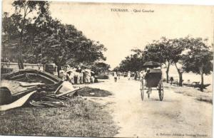CPA Vietnam Indochine ANNAM Tourane - Quai Courbet (62139)