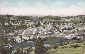 Birds Eye view of St Johnsbury - from Harris Hill Vermont - UDB