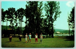 Pine Mountain GA~Foursome on Callaway Gardens Golf Course~Black Caddies~1960s
