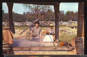USA Making Sorghum Molasses in Smokey Mountains Nat. Park