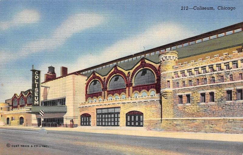 USA Chicago Coliseum seating capacity of fifteen thousand