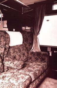 Postcard Nostalgia 1928 ROYAL SCOT Train Interior First Class Carriage Repro