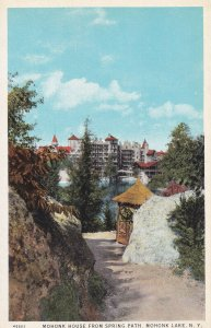 MOHONK LAKE, New York, 1900-1910's; Mohonk House From Spring Path