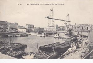 MARSEILLE, Bouches Du Rhone, France, 1900-1910's; Le Bassin Du Carenage