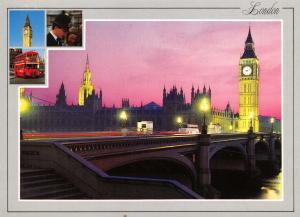 High Quality Large Format Postcard, Big Ben & Houses of Parliament, London (K9)