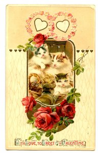 Greeting - Valentine.  Cats