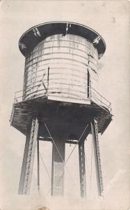 Lohrville Iowa~City Water Tower Close Up~1908 Real Photo Postcard~RPPC