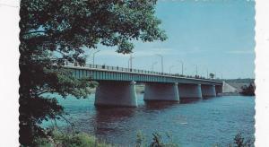 The new Bridge on St. Francis River, Drummondville, Quebec, Canada, PU-1969