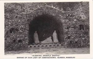 Sleeping Apostle Grotto Shrine Of Our Lady Of Czestochowa Eureka Missouri Rea...