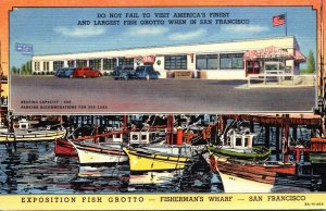 California San Francisco Fisherman's Wharf Exposition Fish Grotto 1948 C...