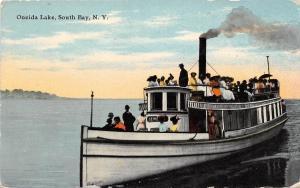 E3/ South Bay New York NY Postcard 1911 Oneida Lake Ship Tourist Boat