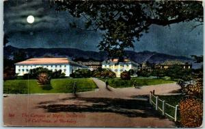 1914 University of California Berkeley Postcard Campus at Night Mitchell