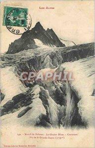 Old Postcard Massif Pevoux Glacier White Cracks Pico Grande Sagne