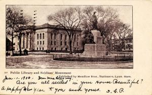 MA - Lynn. Public Library and Soldiers' Monument