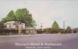 South Carolina Hardeeville Warrens Motel & Restaurant