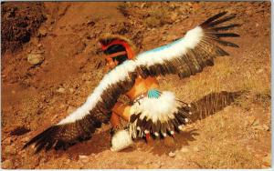 ARIZONA, AZ   PUEBLO INDIAN does the EAGLE DANCE c1960s Native American Postcard