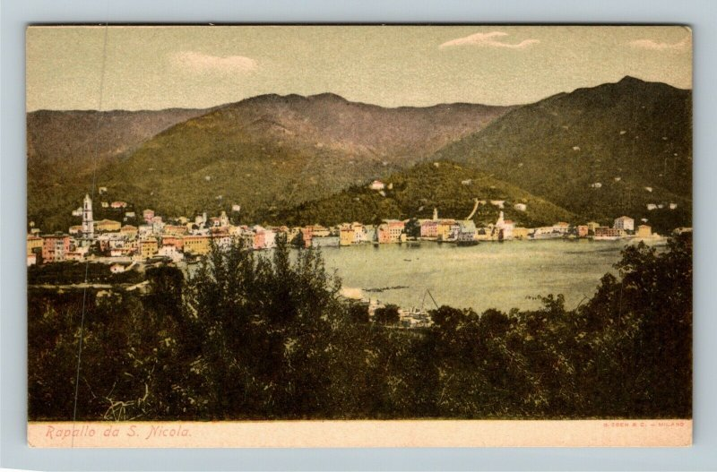 Rapallo da S Nicola Italy Vintage Postcard