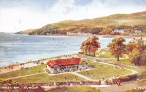 Vintage 1947 Postcard West Bay Dunoon, Argyll, Scotland. Art Colour Series #D