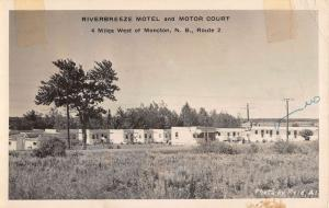 Moncton New Brunswick Riverbreeze Motel Real Photo Antique Postcard K63052