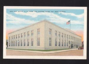 KEY WEST FLORIDA UNITED STATES POST OFFICE VINTAGE POSTCARD U.S. FLA.