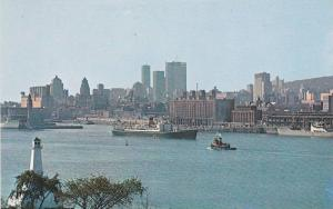St Helen´s Island view of harbour & Skyline , MONTREAL , Quebec, Canada , 50...