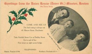 Boston Massachusetts Union Mission Rescue C-1910 Postcard undivided 1998