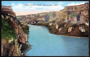 Idaho Snake River Canyon, 600 Ft High near Twin Falls City - Linen